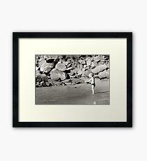 Fishing aged 2 Framed Print