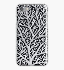 Fan Coral – White Ink on Black iPhone Case/Skin