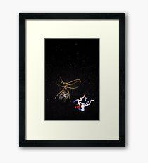 Jim in Space Framed Print