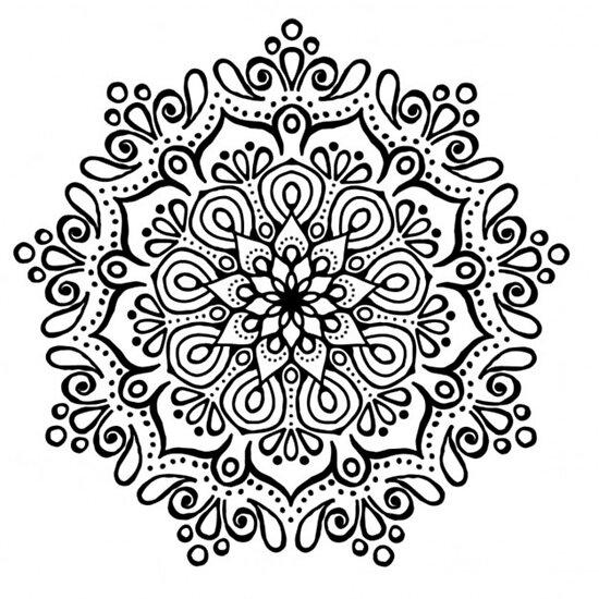 Pósters Mandala Blanco Y Negro De Susquash Redbubble