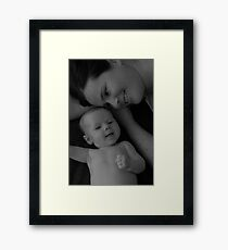 A look into a childs eyes Framed Print
