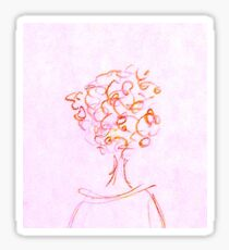 Curly hair Sticker