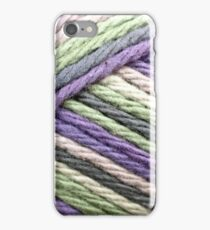 A close up image of textured yarn iPhone Case/Skin