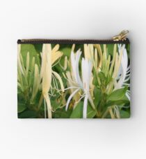 Closeup Of Lonicera European Honeysuckle Flower Studio Pouch