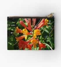 Orange Flowers of Woodbine HoneySuckle Studio Pouch