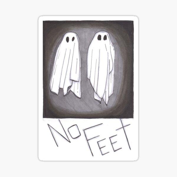 NO FEET Sticker