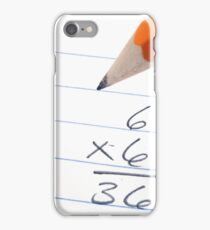 A close up image of math problems with a pencil iPhone Case/Skin