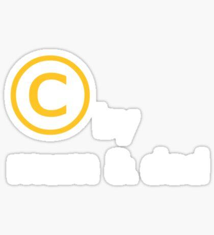 copyright Sticker