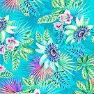 Blue Floral - A by 4ogo Design