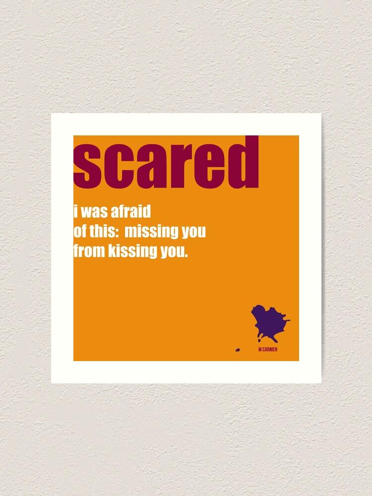 Alternate view of scared Art Print