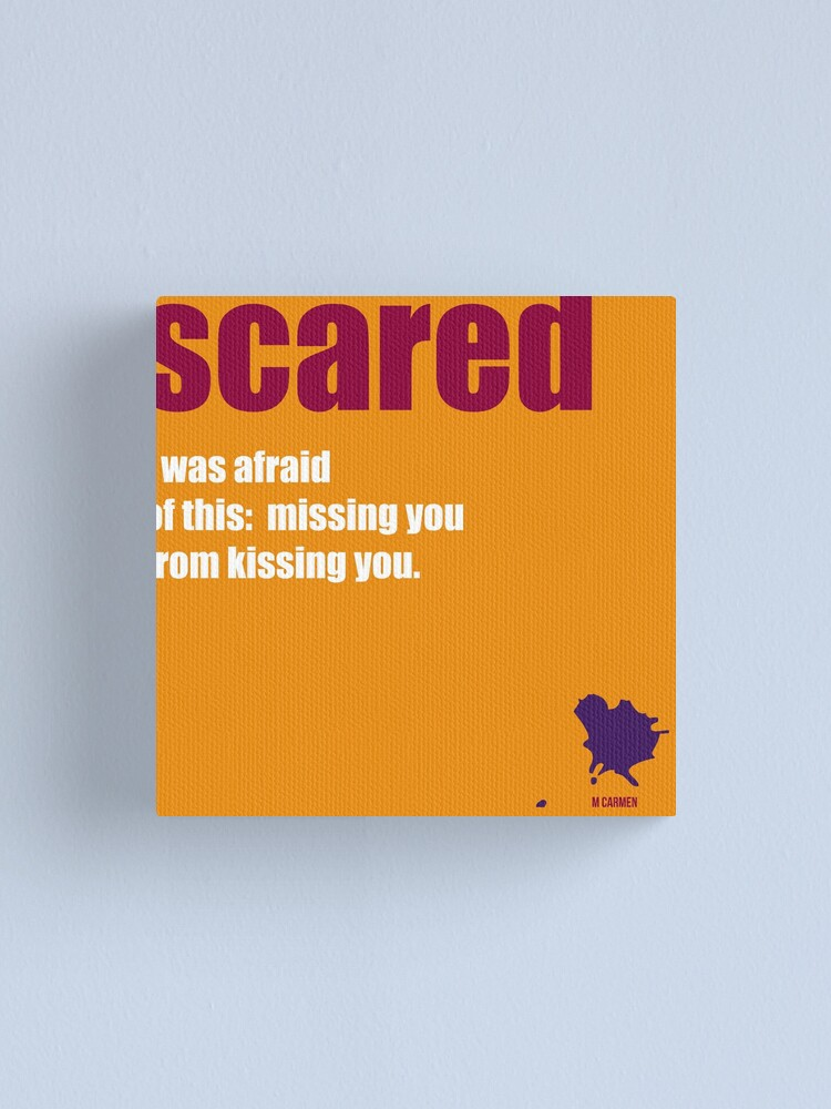 Alternate view of scared Canvas Print