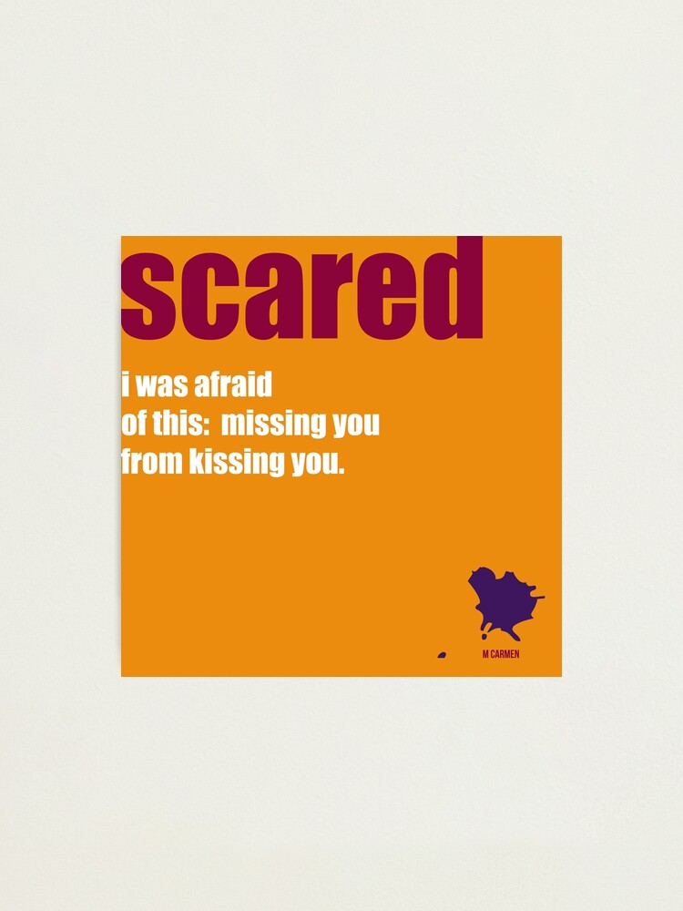 Alternate view of scared Photographic Print
