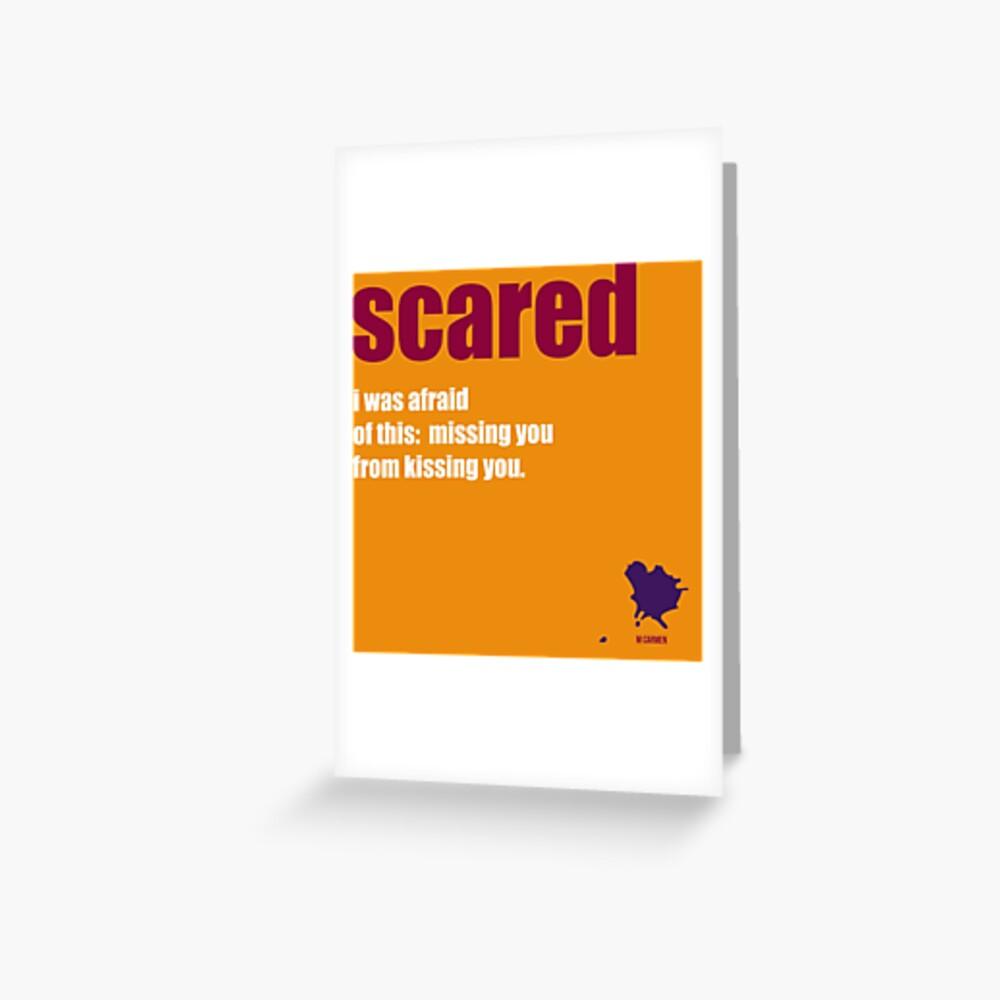 scared Greeting Card