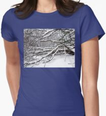 SNOW SCENE 2 Women's Fitted T-Shirt