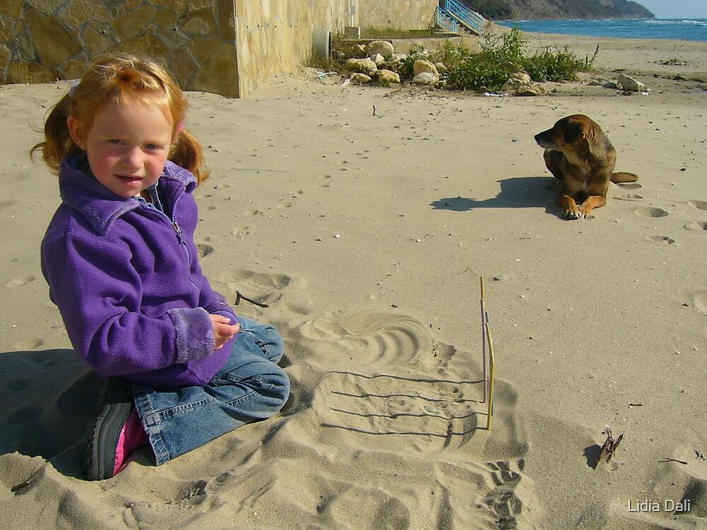 Little Girl by the Seaside by Lidiya