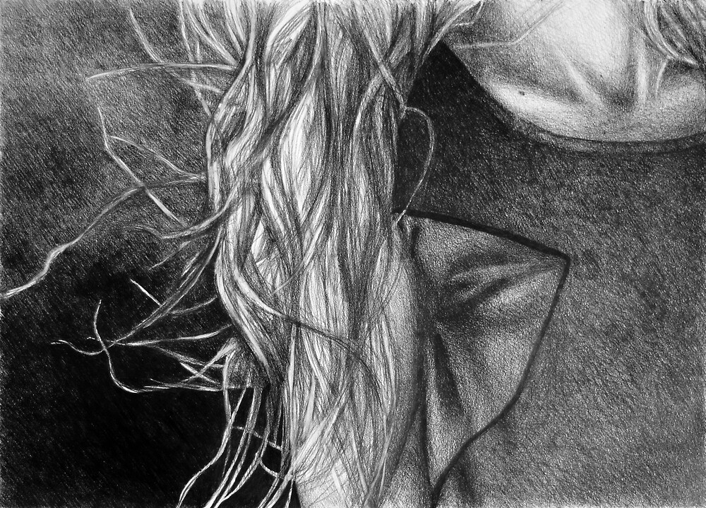 I will remain still dreaming, 2017, 50-70cm, graphite crayon on paper by oanaunciuleanu