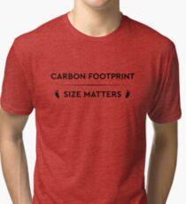 Earth Day Carbon Footprint - Size Matters Tri-blend T-Shirt