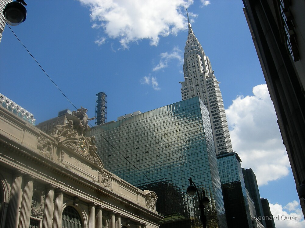 The Chrysler Building with Grand Central Station in Foreground by Leonard Owen