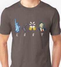 Liberty Guns Beer Trump Support T-shirts Funny Parody LGBT T-Shirt