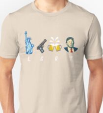 Liberty Guns Beer Trump Support T-shirts Funny Parody LGBT Unisex T-Shirt