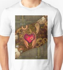 Steampunk, heart with wings Unisex T-Shirt