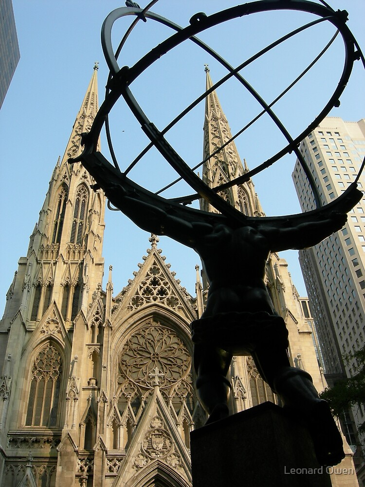 Atlas at St.Patrick's Cathedral, New York by Leonard Owen