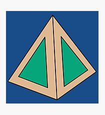 Green Triangles Photographic Print