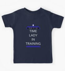Time Lady In Training Kids Tee