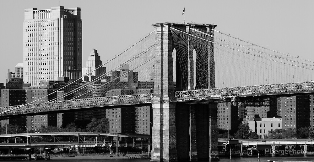 Brooklyn Bridge in Black and White by PBergePhoto