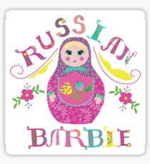 Russian Barbie Sticker