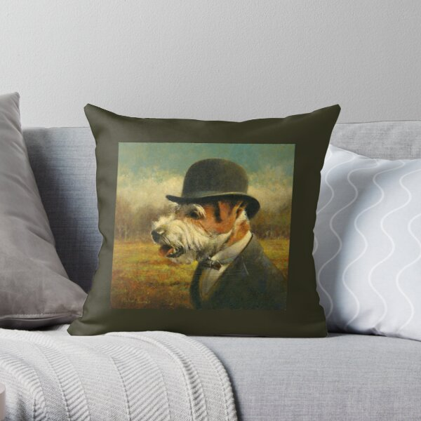 Vintage Jack Russell Throw Pillow
