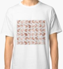 Rose gold vines on marble Classic T-Shirt