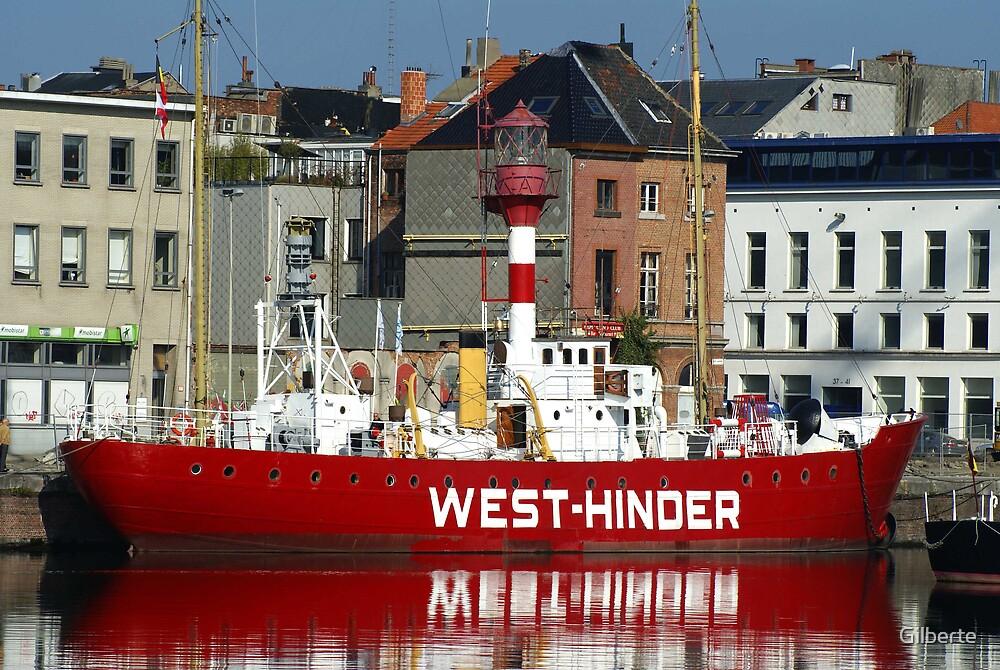 Antwerp - West-Hinder III - lightvessel by Gilberte