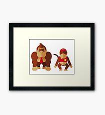 Cool monkeys Framed Print