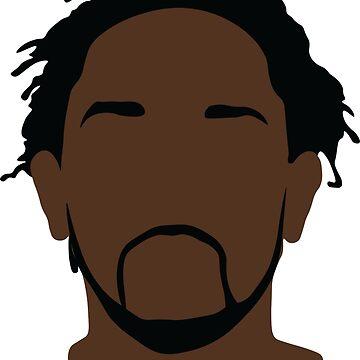 Kendrick Lamar - silhouette by ScoxtMerch