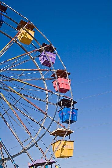 Colorful Ferris Wheel by dbvirago