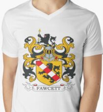 Fawcett Coat of Arms Men's V-Neck T-Shirt