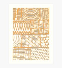 Patterns in paper 1 Art Print