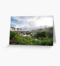 Early morning at the Iguazu Falls Greeting Card