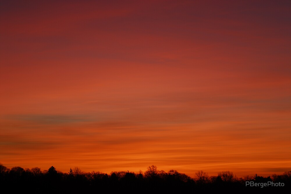 Red Sunrise Over Yonkers by PBergePhoto