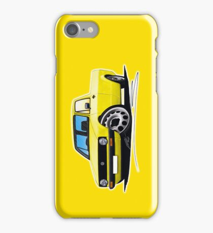 VW Caddy Yellow iPhone Case/Skin