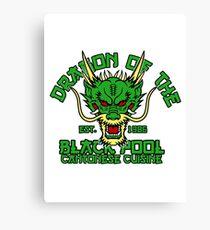 Dragon of the black pool Canvas Print
