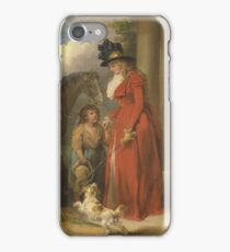 George Morland - The Squires Door Ca. 1790 iPhone Case/Skin