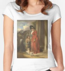George Morland - The Squires Door Ca. 1790 Women's Fitted Scoop T-Shirt