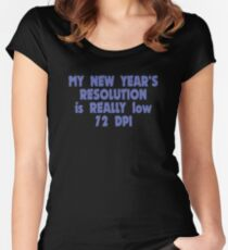 low resolution Women's Fitted Scoop T-Shirt