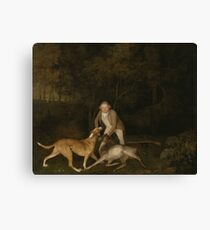George Stubbs - Freeman, The Earl Of Clarendons Gamekeeper, With A Dying Doe And Hound 1800 Canvas Print