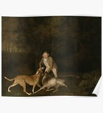 George Stubbs - Freeman, The Earl Of Clarendons Gamekeeper, With A Dying Doe And Hound 1800 Poster
