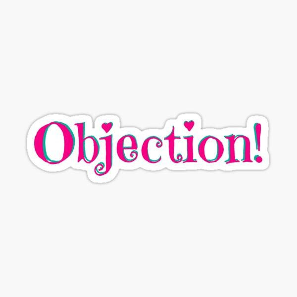 Objection Hearts Sticker