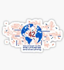 Answer to everything Sticker