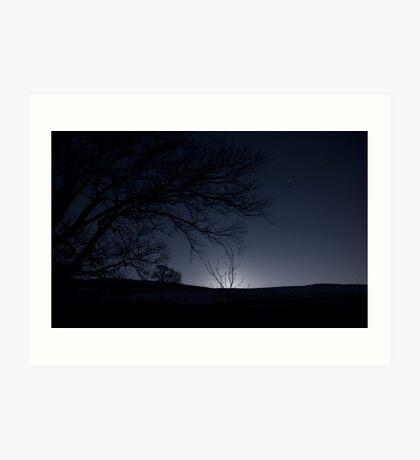 Moonrise, Monzie, Perthshire Art Print